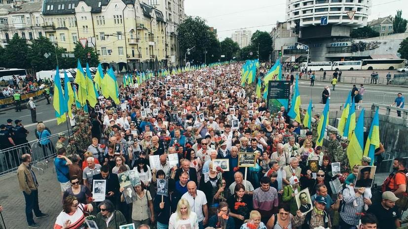 Более 3 тысяч человек приняли участие в акции «Бессмертный полк» в Киеве