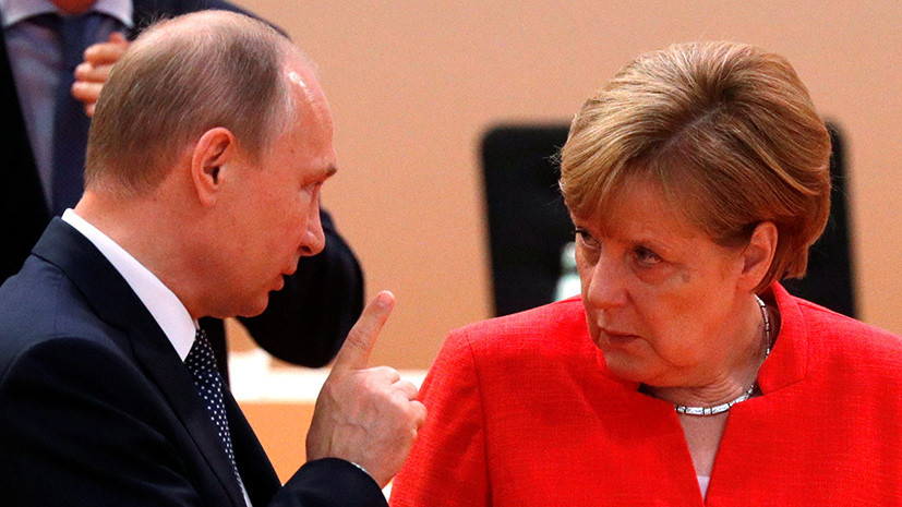 Путин и Меркель обсудят сотрудничество России и Украины по газу