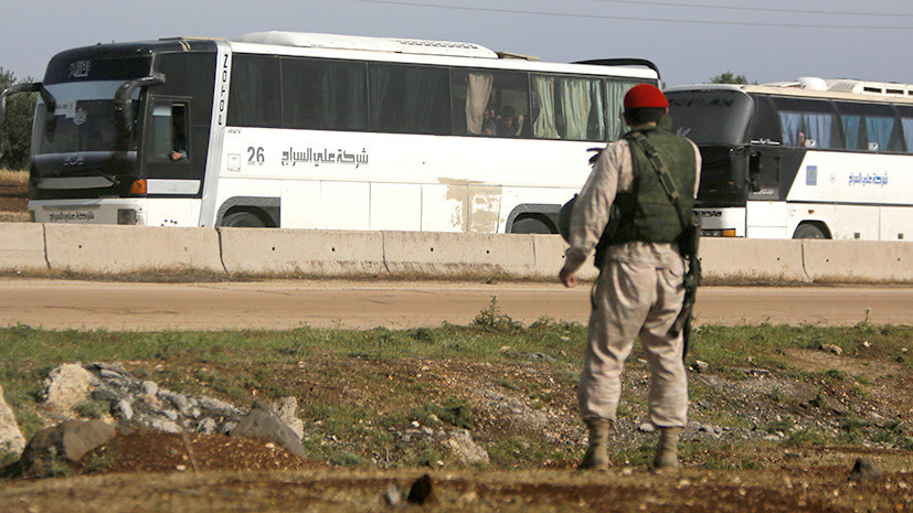 Радикальная миграция: как продвигается вывод боевиков из неподконтрольных Дамаску районов Сирии