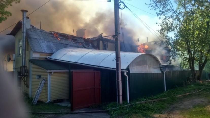 В частном секторе Мытищ произошло возгорание площадью около 600 квадратных метров
