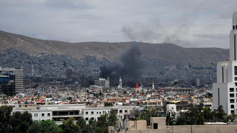 СМИ: В результате обстрела террористами Дамаска пострадали три человека
