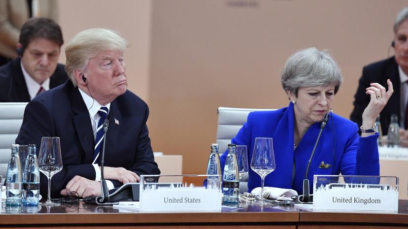 Мэй заверила Трампа, что Великобритания продолжит оказывать давление на КНДР