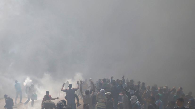 В секторе Газа в ходе протестов из-за открытия посольства США в Иерусалиме погиб палестинец