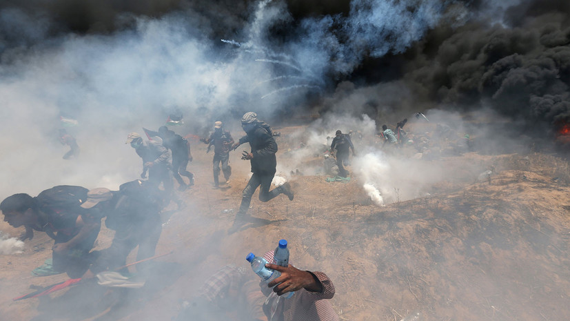 СМИ сообщили о гибели 16 палестинцев при столкновениях в секторе Газа