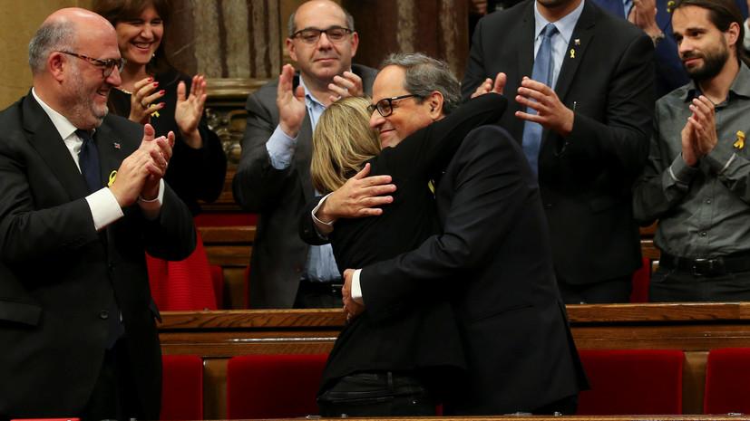 Пучдемон поздравил Торру с утверждением главой Каталонии
