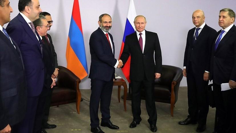 Пашинян назвал эффективной первую встречу с Путиным