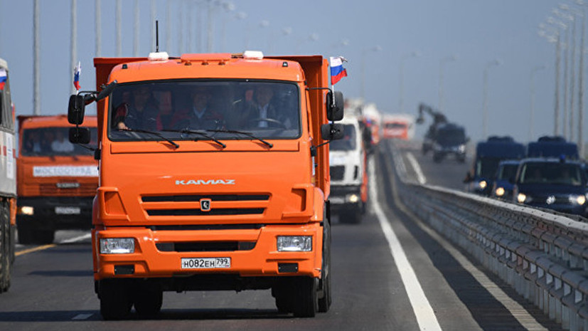 Путин за 16 минут проехал по Крымскому мосту
