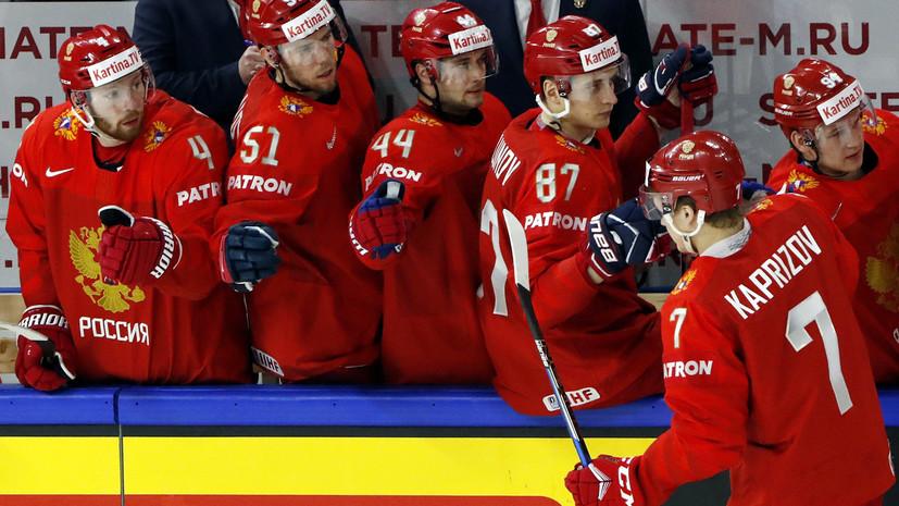 Сборная России выигрывает у Швеции после первого периода матча ЧМ по хоккею