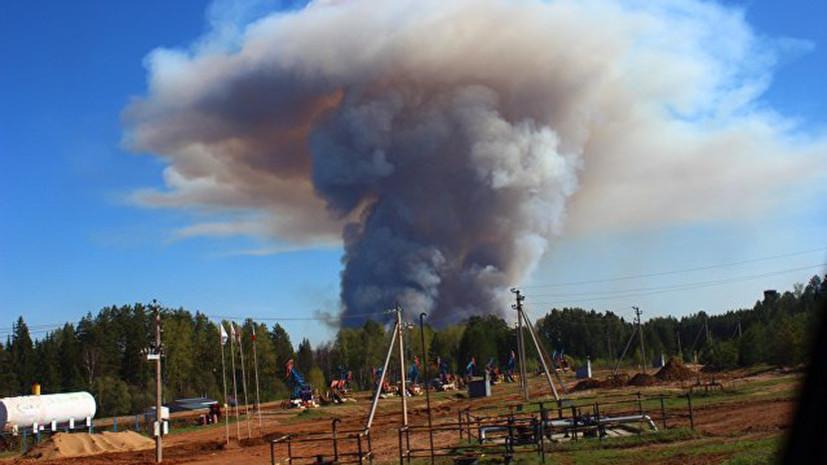 Режим ЧС введён в Удмуртии, где горит бывший военный склад