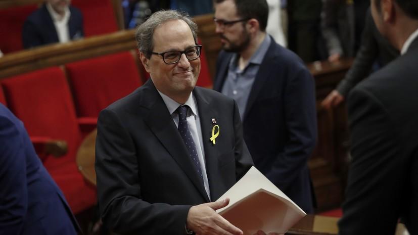 Ким Торра вступил в должность главы Каталонии