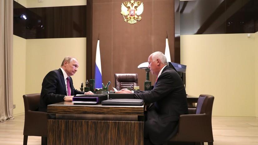 Глава «Ростеха» доложил Путину о почти полной готовности мотоцикла проекта «Кортеж»