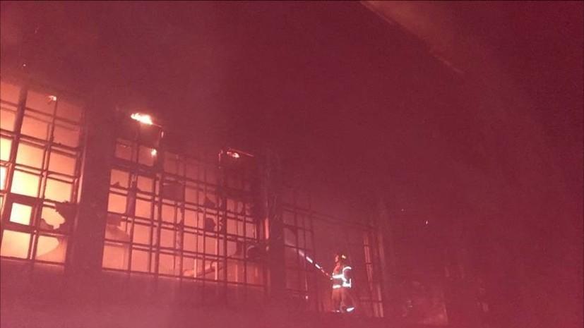 В МЧС сообщили о пожаре на фабрике в Ивановской области