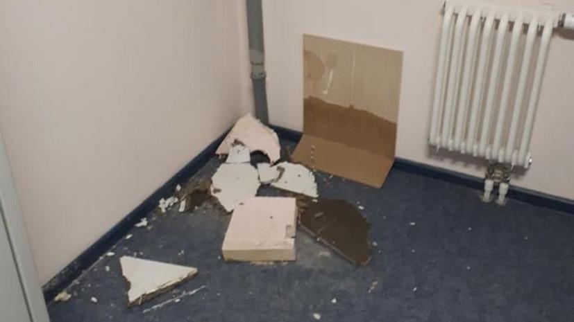 На Сахалине в новом перинатальном центре второй раз обрушился подвесной потолок