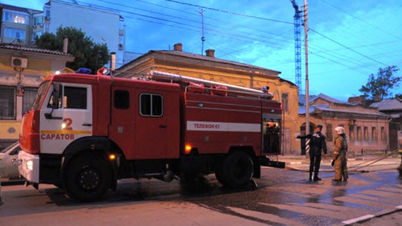 В Саратовской области произошло возгорание пассажирского автобуса