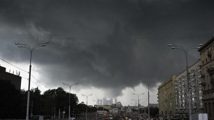 МЧС предупредило о грозе и усилении ветра в ближайшие часы в Москве