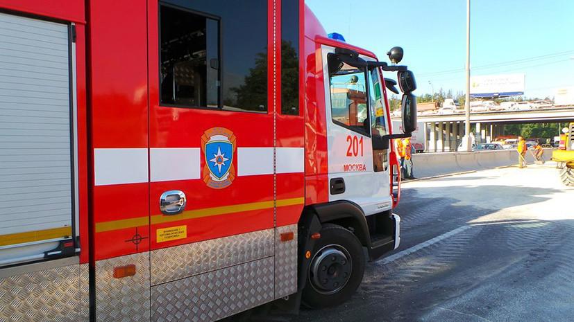 На МКАД произошло возгорание автобуса