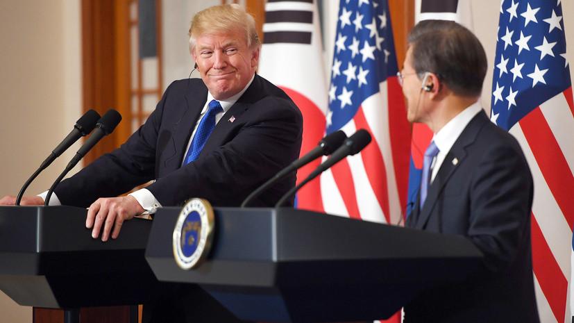 Лидеры США и Южной Кореи обсудили ситуацию с КНДР