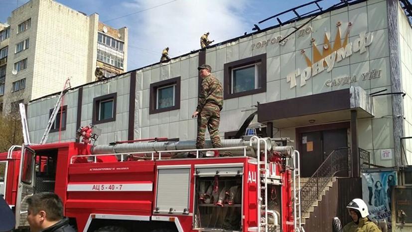 В Казахстане из загоревшегося торгового дома эвакуировали 35 человек