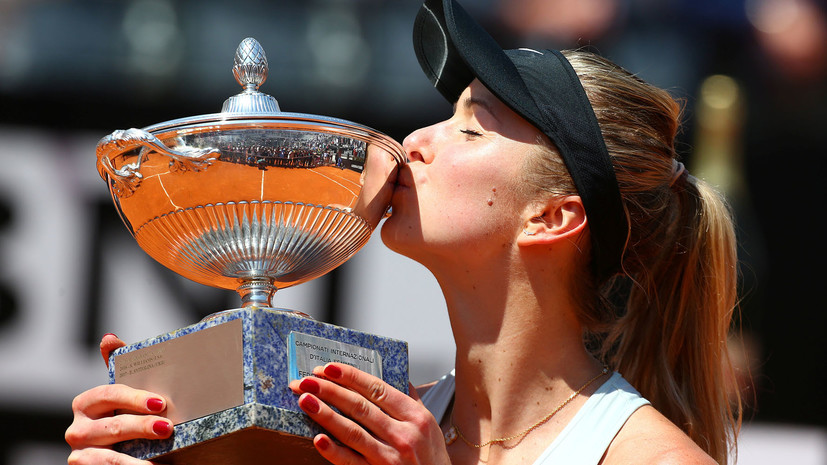 Украинская теннисистка Свитолина защитила титул на турнире в Риме, обыграв первую ракетку мира Халеп