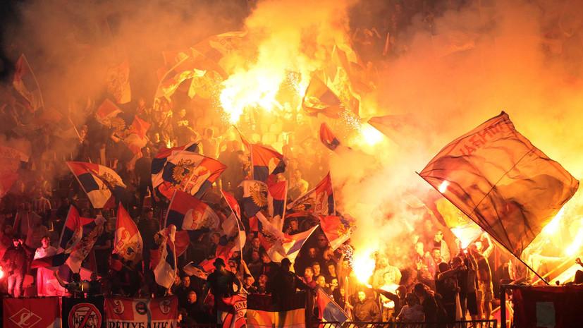 Фанаты «Црвены Звезды» сожгли автобус футбольной команды во время празднования чемпионского титула