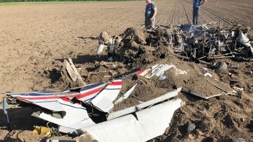 Сотрудники СК приступили к осмотру места аварии Су-29 в Ленинградской области