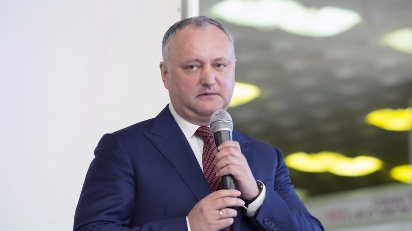 Додон считает миротворческую операцию в Приднестровье успешной