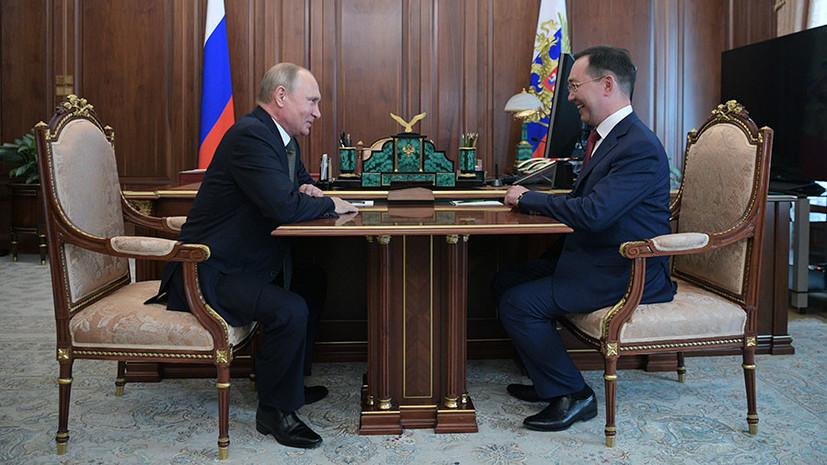 Путин назначил Айсена Николаева и. о. главы Якутии