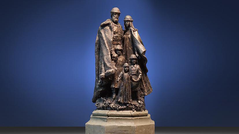 Представлен эскиз первого в России памятника святым Петру и Февронии с детьми