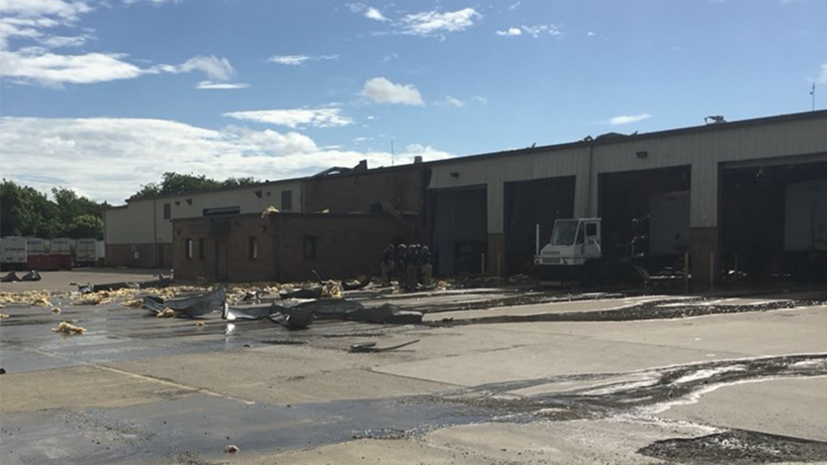 В США произошёл взрыв на складе почтовой компании