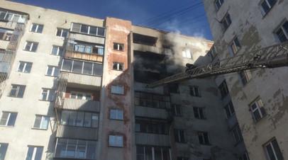 Пожар произошёл в девятиэтажном доме в Екатеринбурге