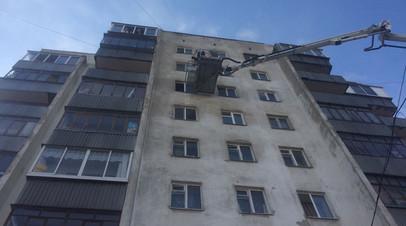 СК: семь человек пострадали при пожаре в девятиэтажном доме в Екатеринбурге
