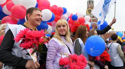 В Москве завершилось первомайское шествие