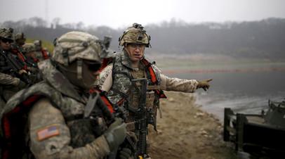 Солдаты армии США в Южной Корее