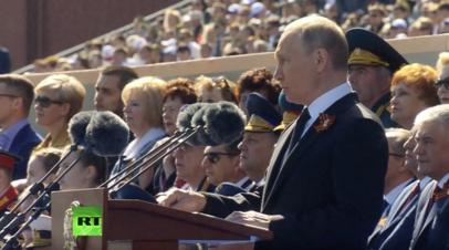 Путин заявил, что Россия никогда не позволит переписать историю Великой Отечественной войны