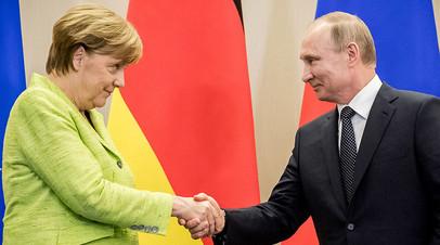 «Сам факт беседы показателен»: Путин и Меркель обсудили перспективы ввода миротворцев ООН в Донбасс