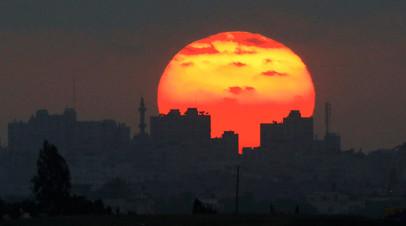 Закат над сектором Газа