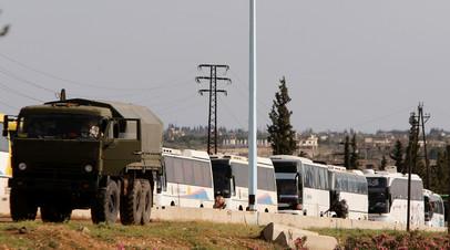 Почти 8 тысяч боевиков с семьями покинули зону деэскалации «Хомс» в Сирии за сутки