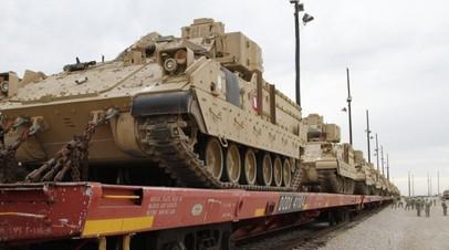 В Бельгию прибыла военная техника США для развёртывания в Восточной Европе