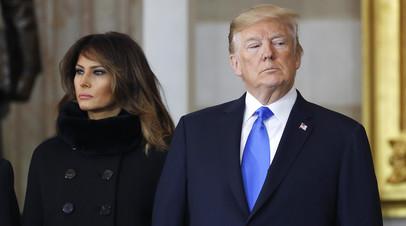 Президент Дональд Трамп с супругой Меланьей Трамп