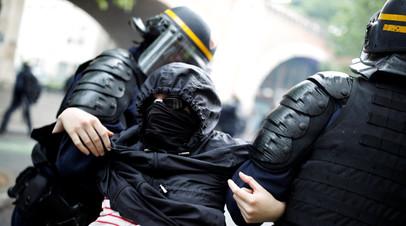 В Париже полиция задержала 17 человек во время акции протеста