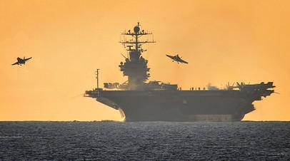 Американский авианосец «Гарри Трумэн» зашёл на Крит