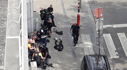 Опубликовано видео ликвидации стрелка в бельгийском Льеже