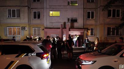 Украинская полиция у дома Аркадия Бабченко