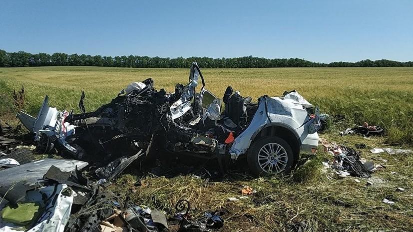 В Ростовской области в ДТП с тремя автомобилями погибли трое детей