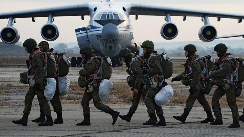Полк псковских десантников соединения ВДВ поднят по учебной тревоге