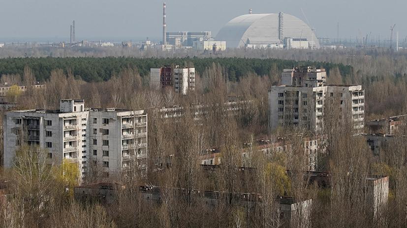 В чернобыльской зоне отчуждения произошёл крупный пожар