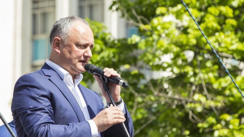 Додон заявил о планах посетить Россию в сентябре