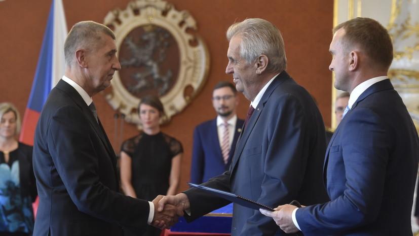 Земан повторно назначил Бабиша премьером Чехии