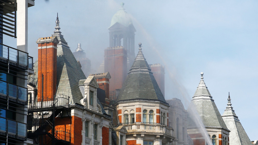Пожар в отеле Лондона локализован