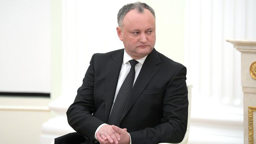 Додон отметил развитие двусторонних отношений между Молдавией и Россией